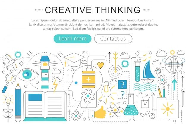 Concepto de pensamiento creativo