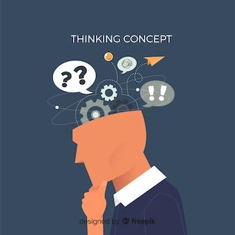 Concepto de pensar flat