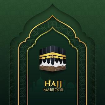 Concepto de peregrinación islámica realista hajj