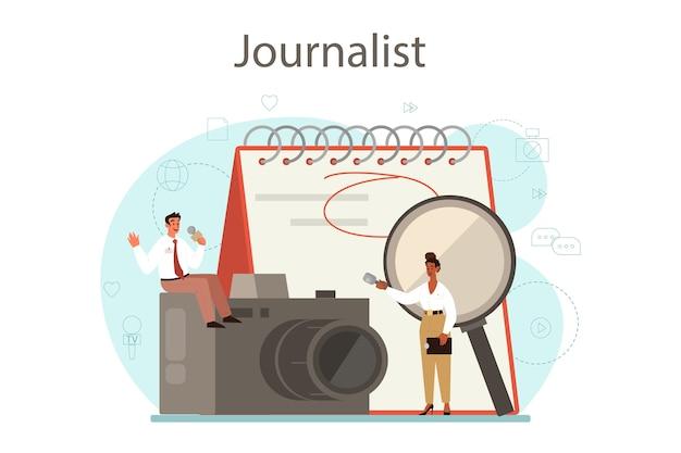 Concepto de periodista