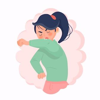 Concepto de persona tosiendo