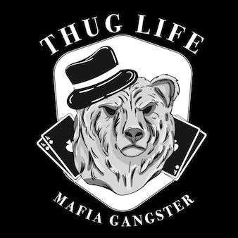 Concepto de personaje de gángster retro