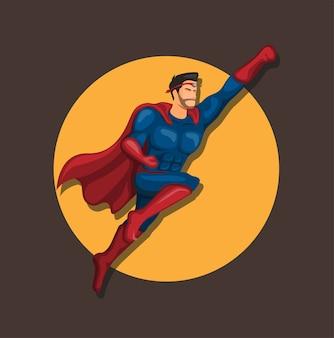 Concepto de personaje de mosca de superhéroe en dibujos animados
