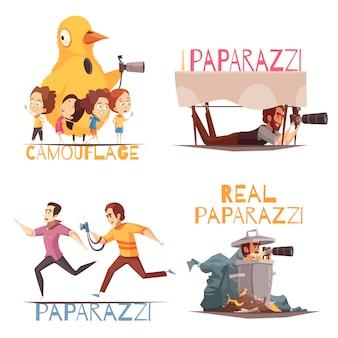 Concepto de personajes paparazzi