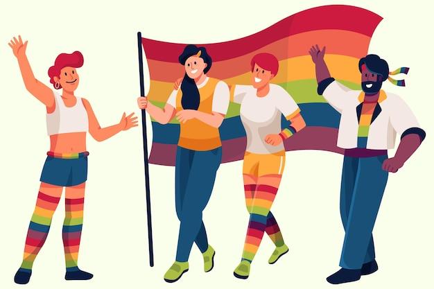 Concepto de personas del día del orgullo