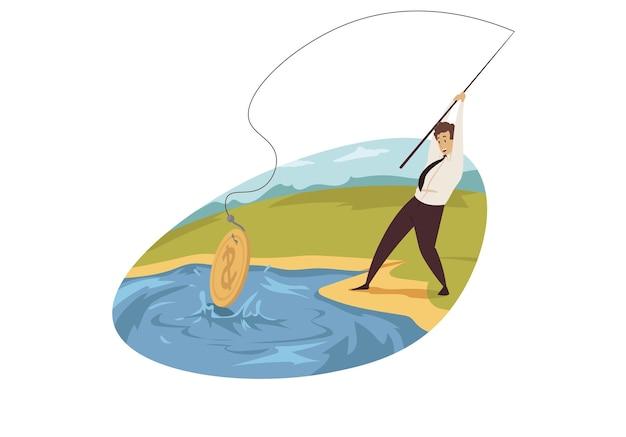 Concepto de pesca