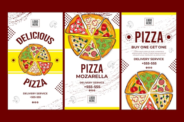 Concepto de pizza deliciosa