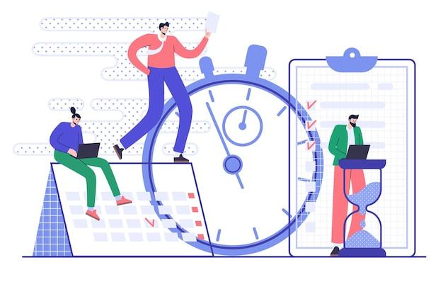 Concepto de planificación y gestión eficaz del tiempo. organización del flujo de trabajo.