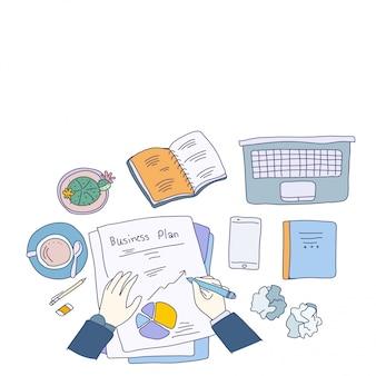 Concepto de planificación de negocios