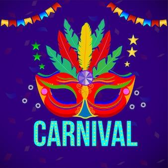 Concepto plano de carnaval