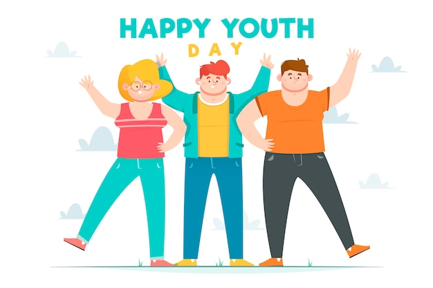 Concepto plano del día de la juventud