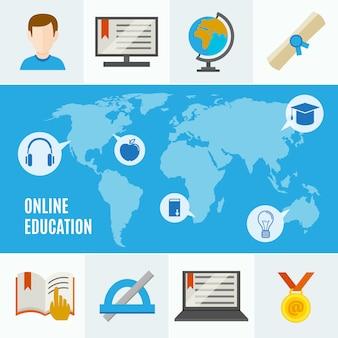 Concepto plano de e-learning