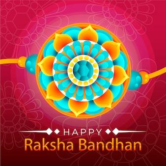 Concepto plano de raksha bandhan