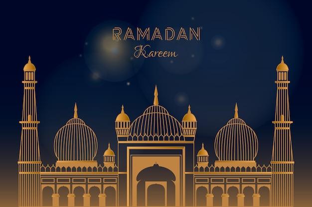 Concepto plano de ramadán