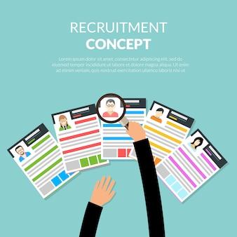 Concepto plano de reclutamiento