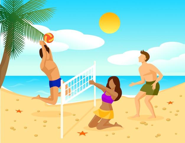 Concepto plano de vacaciones de verano