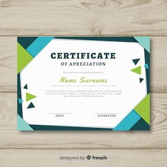 Concepto de plantilla abstracta de certificado