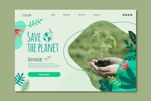 Concepto de plantilla de banner de medio ambiente