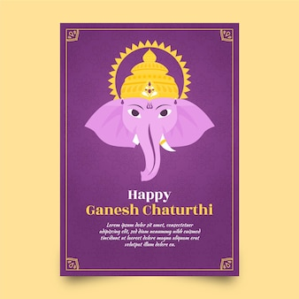 Concepto de plantilla de cartel de ganesh chaturthi