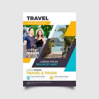 Concepto de plantilla para cartel de viaje