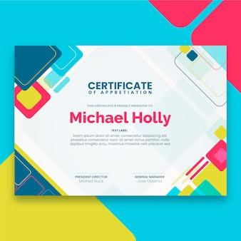 Concepto de plantilla de certificado abstracto