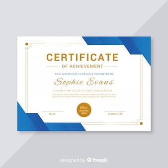 Concepto de plantilla creativa de certificado