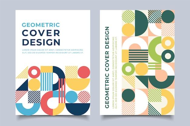 Concepto de plantilla de cubiertas coloridas abstractas