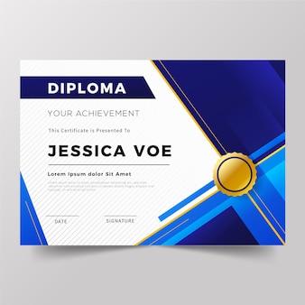 Concepto de plantilla de diploma
