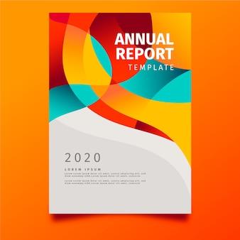 Concepto de plantilla de informe anual abstracto colorido