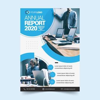 Concepto de plantilla para informe anual