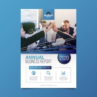 Concepto de plantilla de informe comercial anual