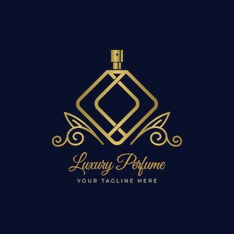 Concepto de plantilla de logotipo de perfume de lujo