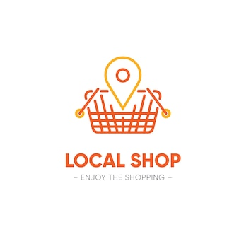 Concepto de plantilla de logotipo de supermercado