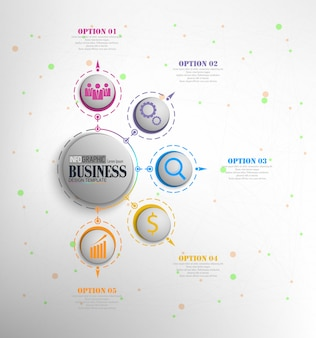 Concepto de plantilla de negocio de infografía