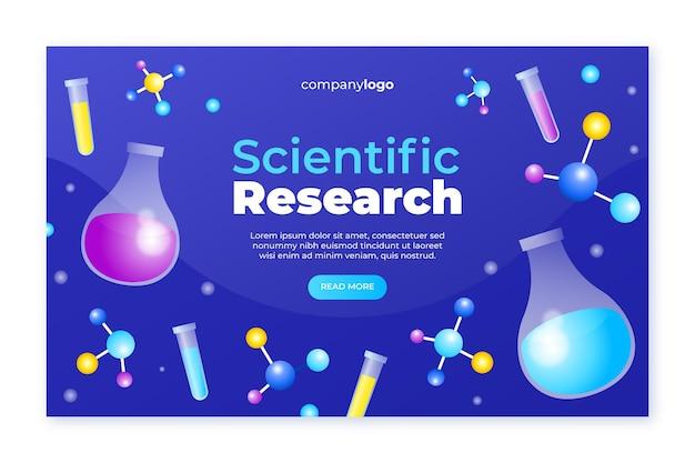 Concepto de plantilla de página de aterrizaje de investigación científica