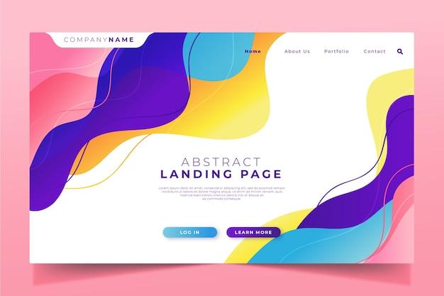 Concepto de plantilla de página de destino gradiente