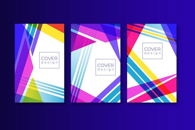 Concepto de plantilla de portada colorida