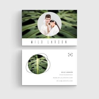 Concepto de plantilla de tarjeta de visita abstracta
