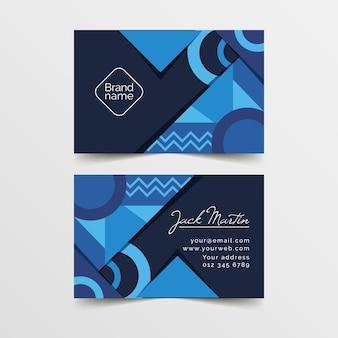 Concepto de plantilla de tarjeta de visita azul clásica