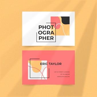 Concepto de plantilla de tarjeta de visita colorida abstracta