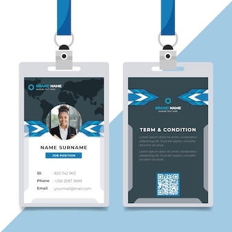 Concepto de plantilla de tarjetas de identificación mínima
