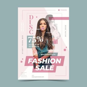 Concepto de plantilla de venta de moda
