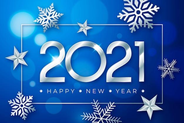 Concepto de plata año nuevo 2021