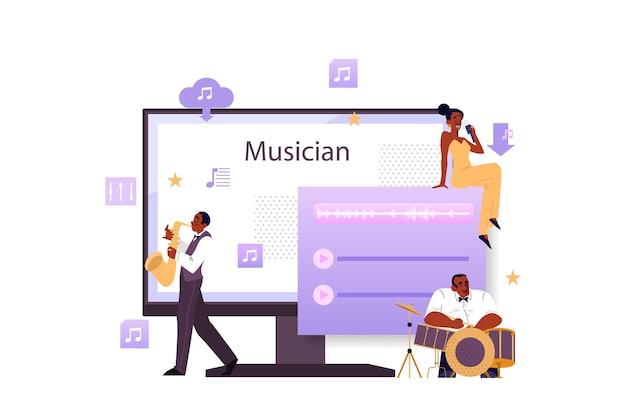 Concepto de plataforma y servicio de transmisión de música
