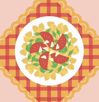 Concepto de plato de pasta italiana