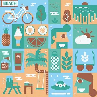 Concepto de playa