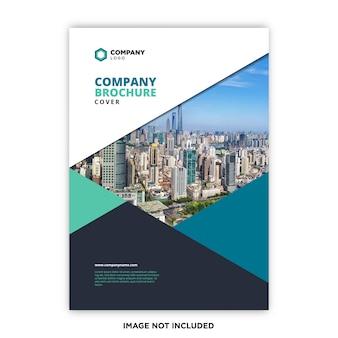 Concepto de portada del folleto de la empresa