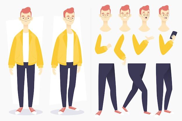 Concepto de poses de personaje