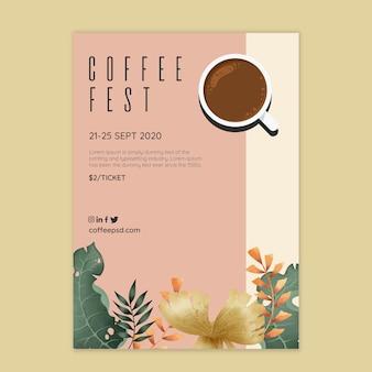Concepto de póster de café