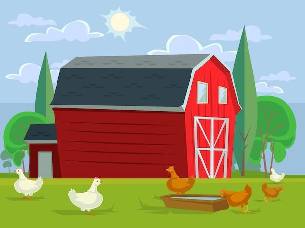 Concepto de pradera de agricultura de tierras de cultivo. ilustración de diseño gráfico plano vectorial